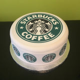 Starbucks Coffee Logo Edible Icing Cake Topper