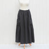 Linen Maxi Skirt with Pleat pockets 9746 - Pure Plus Clothing