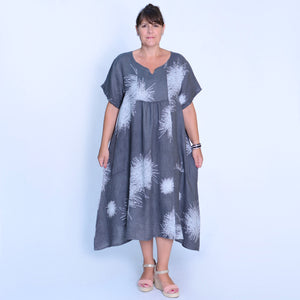 Linen Dress Scribble - 10005 - 1 - Pure Plus Clothing