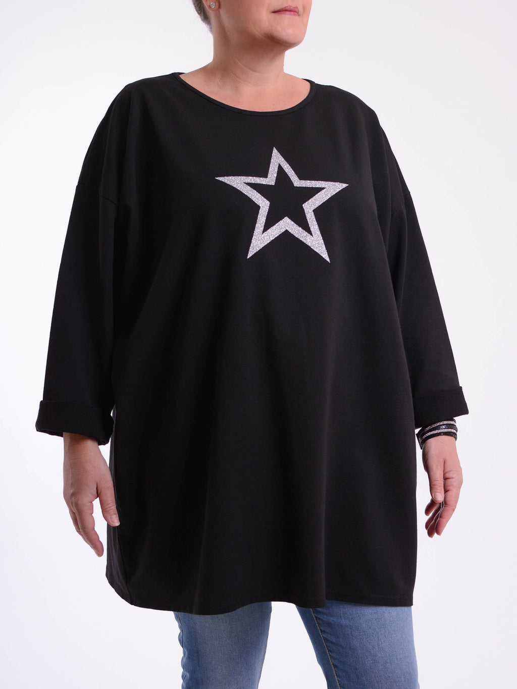 Glitter Star Top - 9482 - Pure Plus Clothing