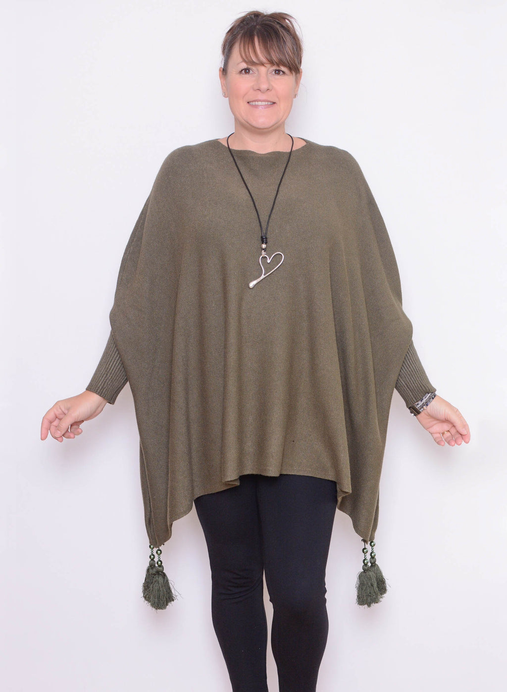Oversized Jumper with Tassels - 2700 - Pure Plus Clothing