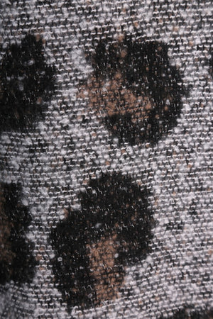 Leopard Print Wool Mix Scarf - 84B - Pure Plus Clothing