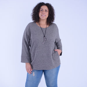 Wool Jumper with Pockets - 91031