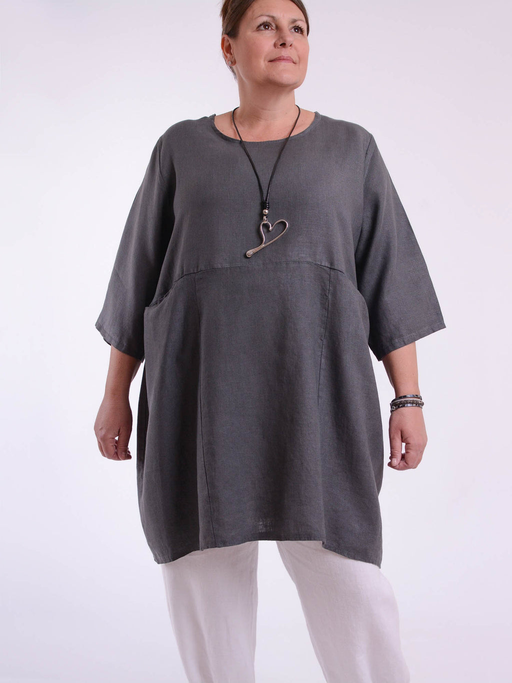 Heavy Linen Quirky Tunic - 9479 - Pure Plus Clothing