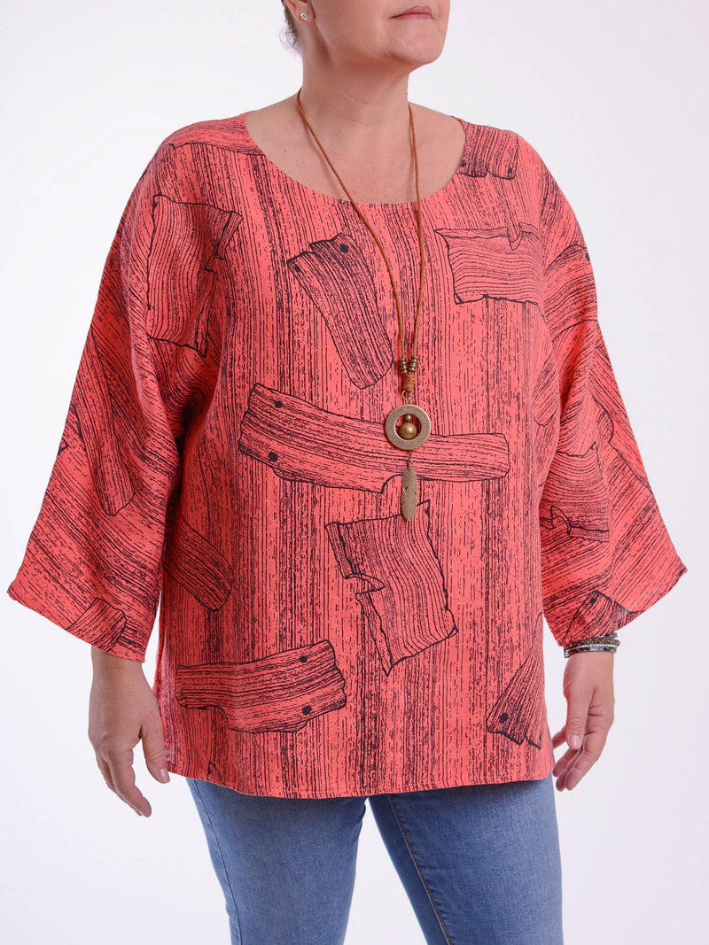 Lagenlook Boxy Linen Tunic -9686 - Pure Plus Clothing