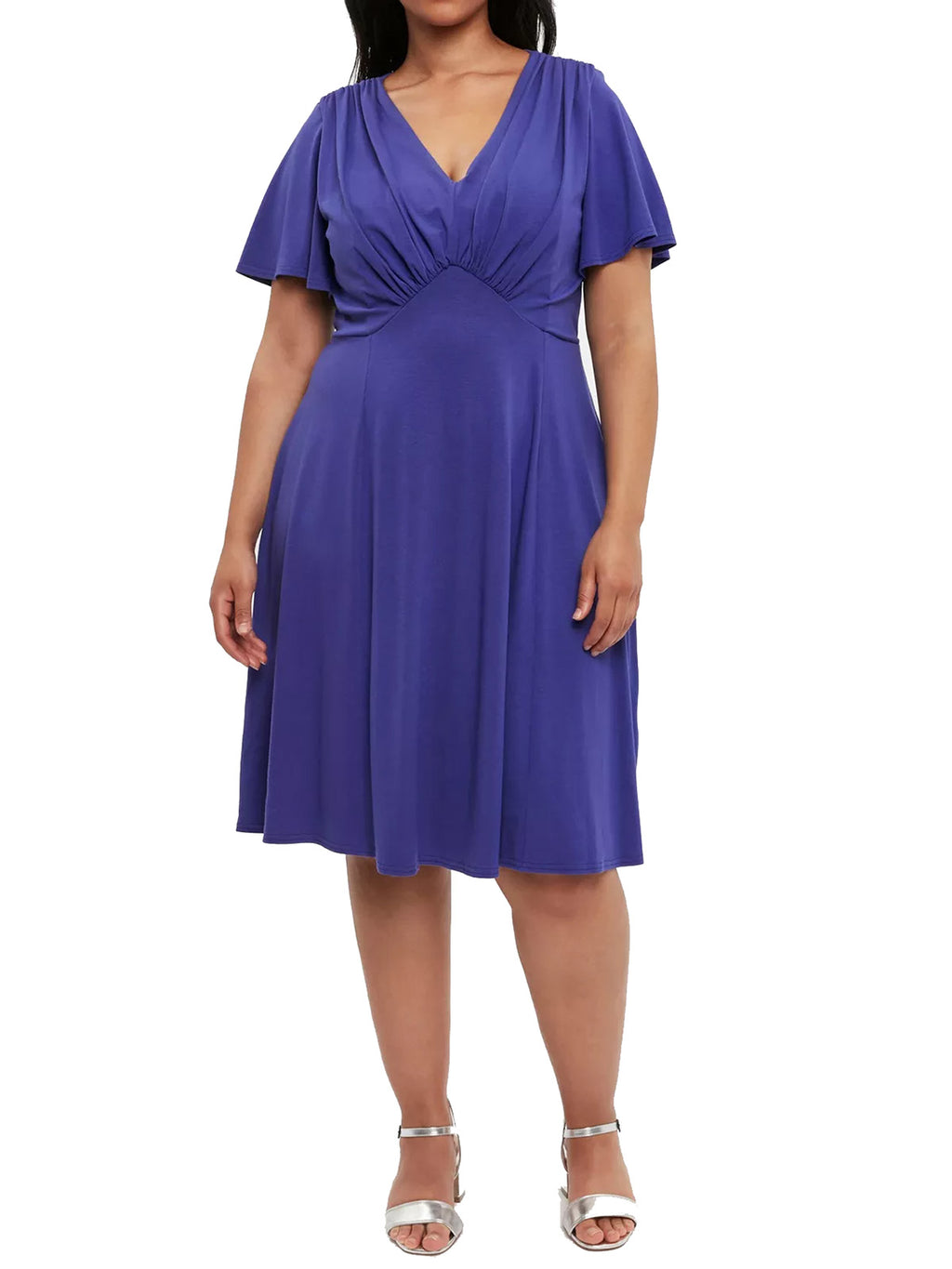 Jersey Dress Fit and Flare Purple - D81419 - Pure Plus Clothing