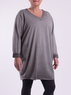 Oversized Washed Look Tunic - 9917 - Pure Plus Clothing