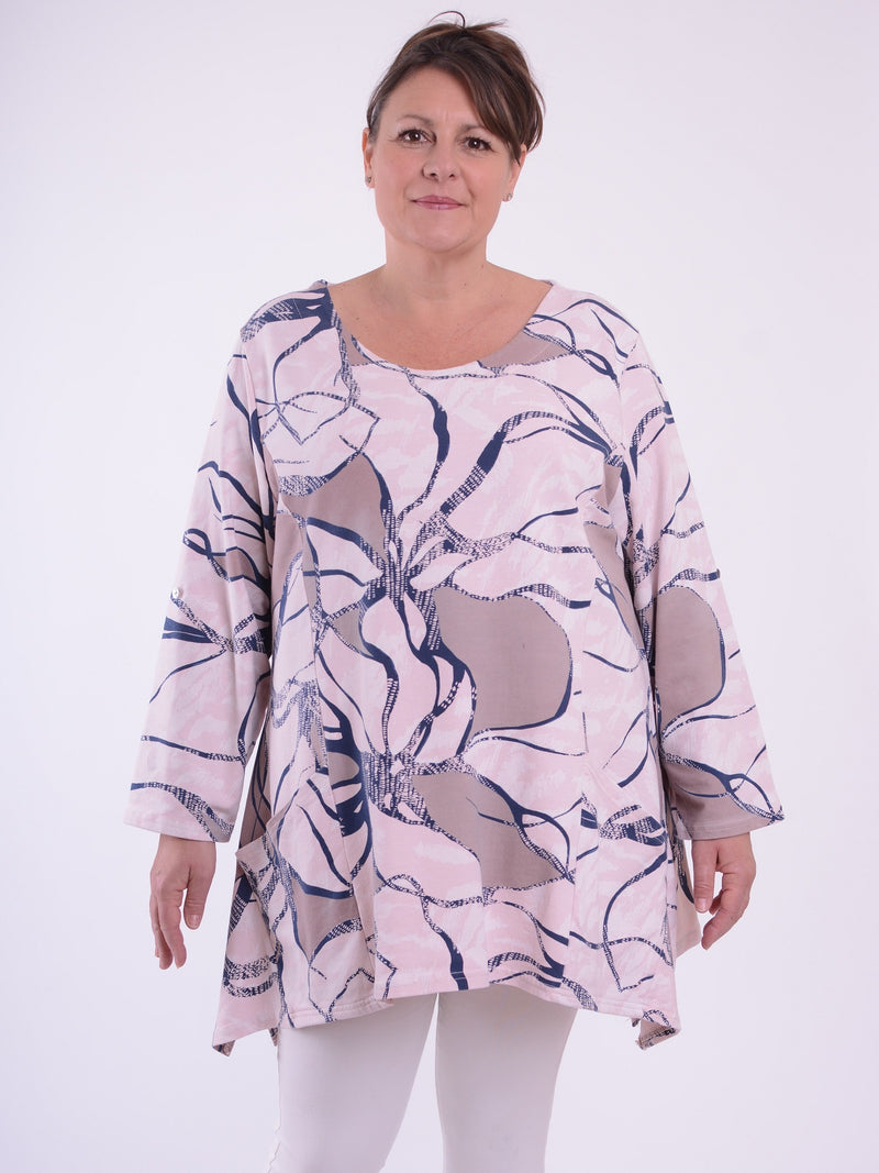 Asymmetric Patterned Tunic - 10605 - Pure Plus Clothing