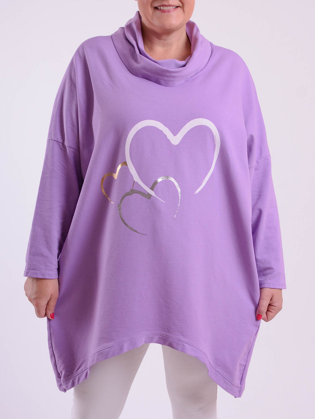 Heart Motif Sweat Top - 1887 - Pure Plus Clothing
