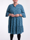 Lagenlook Ditsy Floral Cotton Long Tunic - 19535 - Pure Plus Clothing