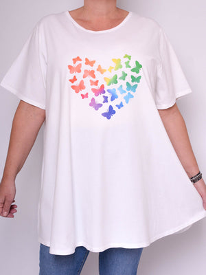 Basic Cotton Swing T Shirt - Round Neck 10516 BUTTERFLIES - Pure Plus Clothing