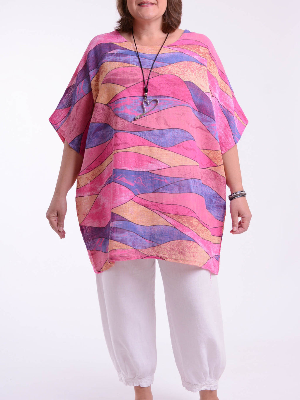 Lagenlook Cotton/Linen Patterned Tunic -91226 - Pure Plus Clothing