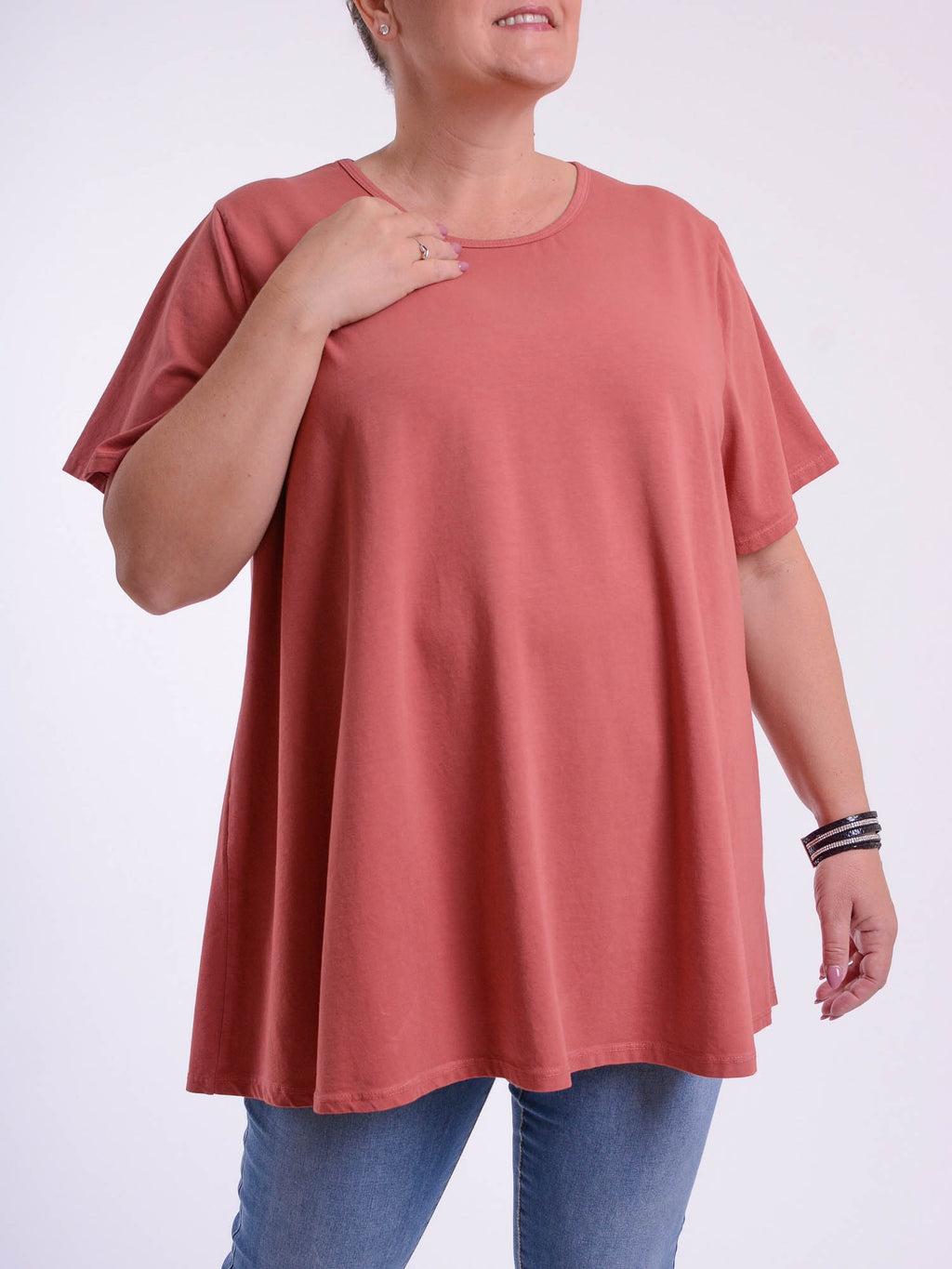 Basic Cotton Swing T Shirt - Round Neck 10516 - Pure Plus Clothing