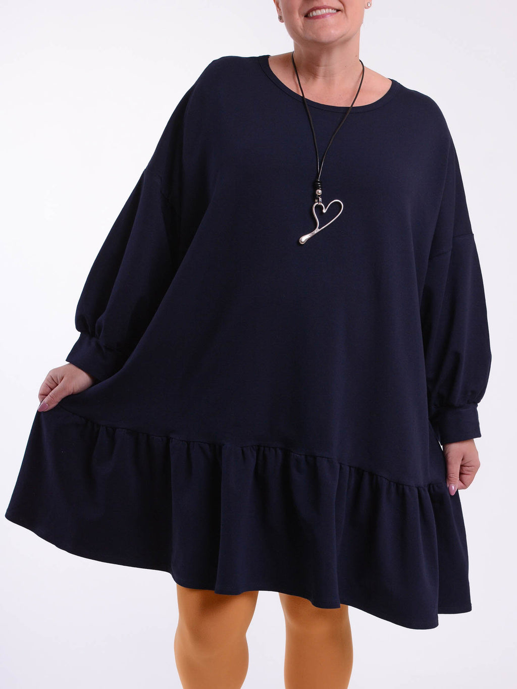 Long Sleeve Frill Tunic - M90 - Pure Plus Clothing