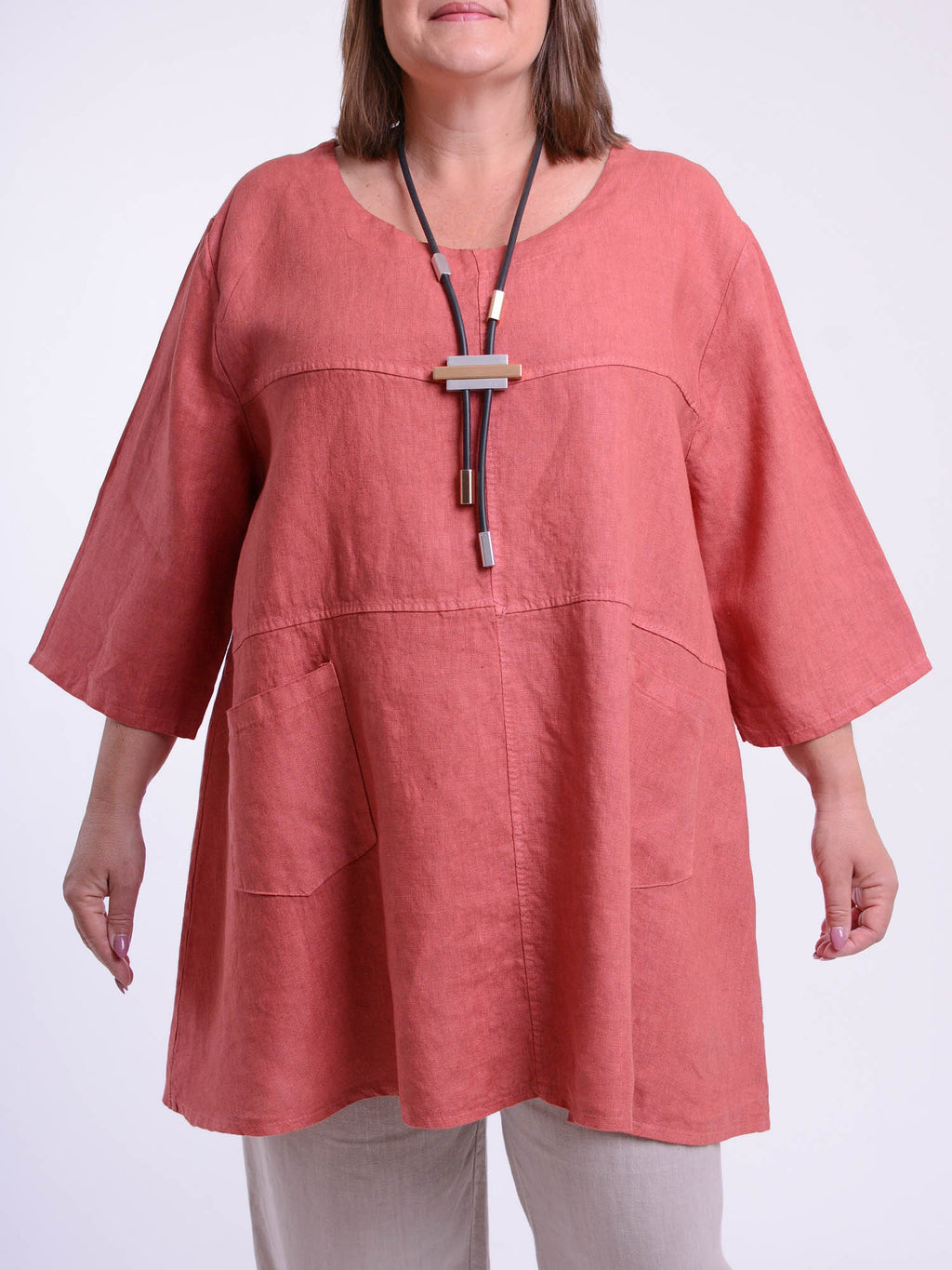 Heavy Linen Tunic - 105151 - Pure Plus Clothing