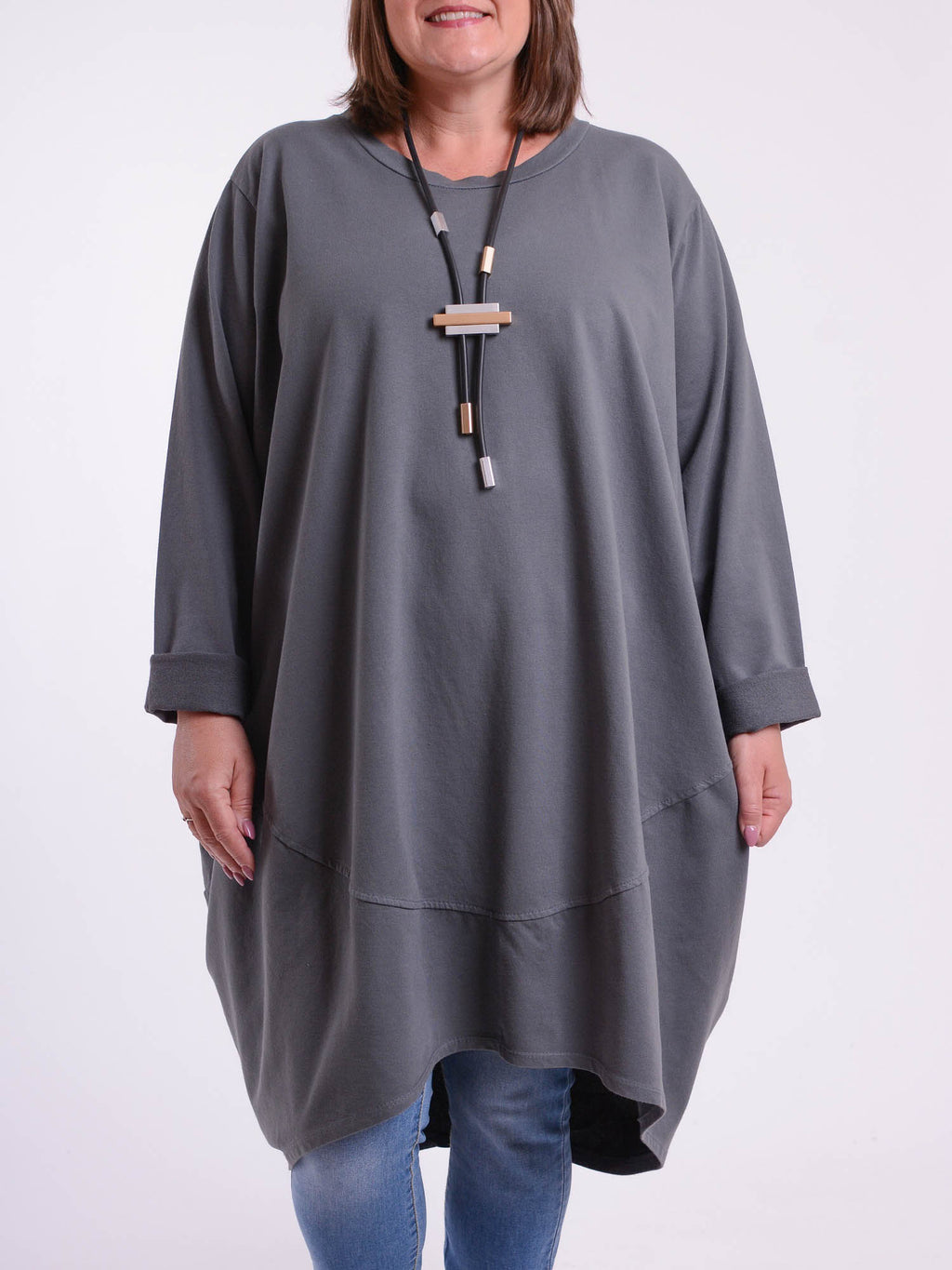 Oversized Cocoon Tunic  - 10517 - Pure Plus Clothing