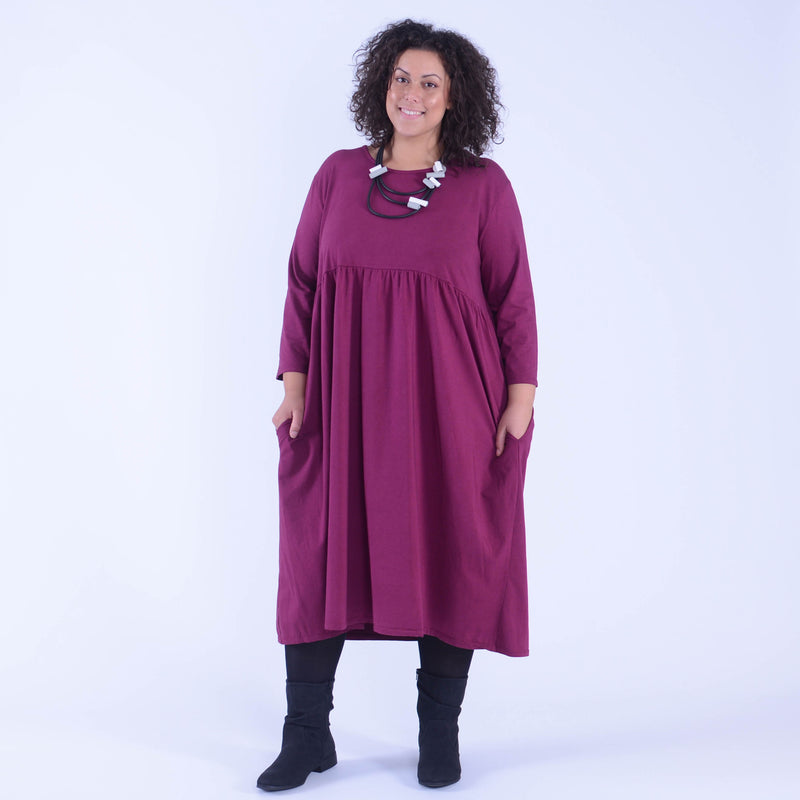 Ladies Plus Size Smock Dress  - 9449