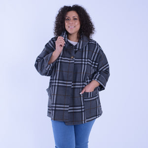 Checked Jacket with Pockets - 10202