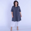 Plus Size Lagenlook Heavy Cotton Tunic Quirky Tunic 9493