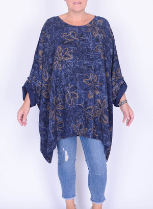 Lagenlook Oversized Cotton Tencel Tunic - 9065A - Pure Plus Clothing