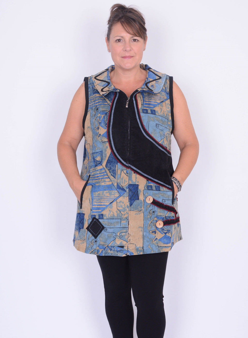 Lagenlook Gillet/Tunic Top - A705 XXL - Pure Plus Clothing