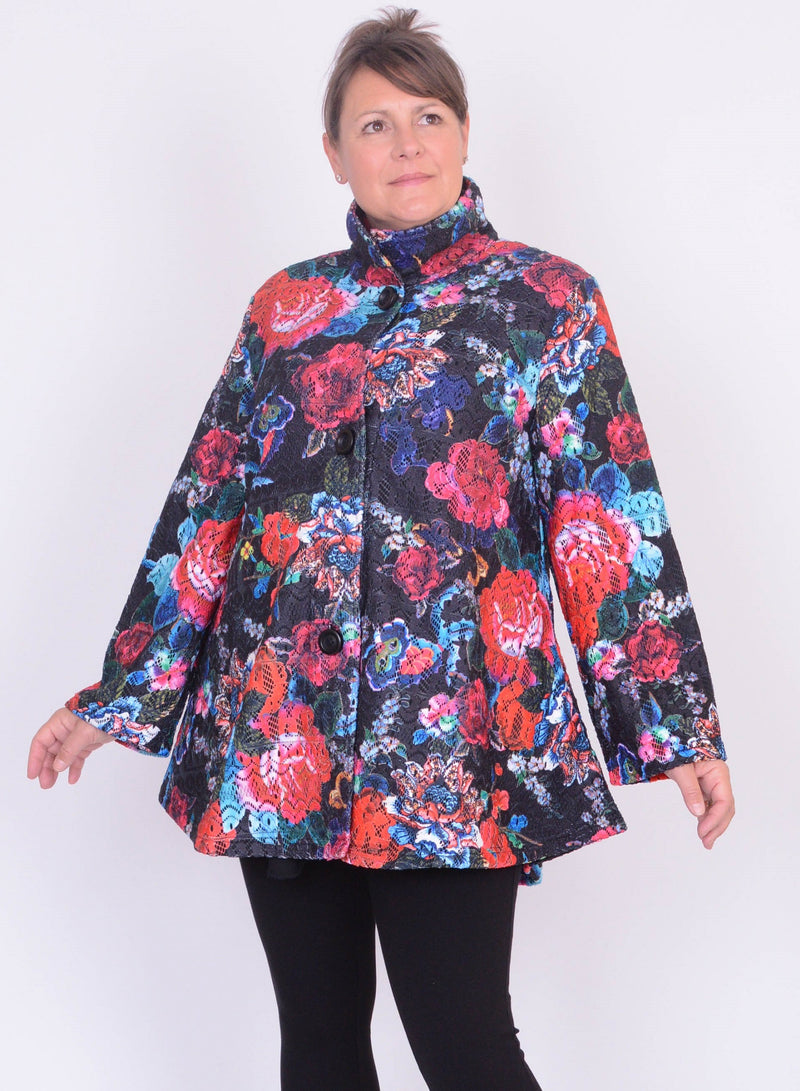 Floral Swing Jacket - 12575 - Pure Plus Clothing