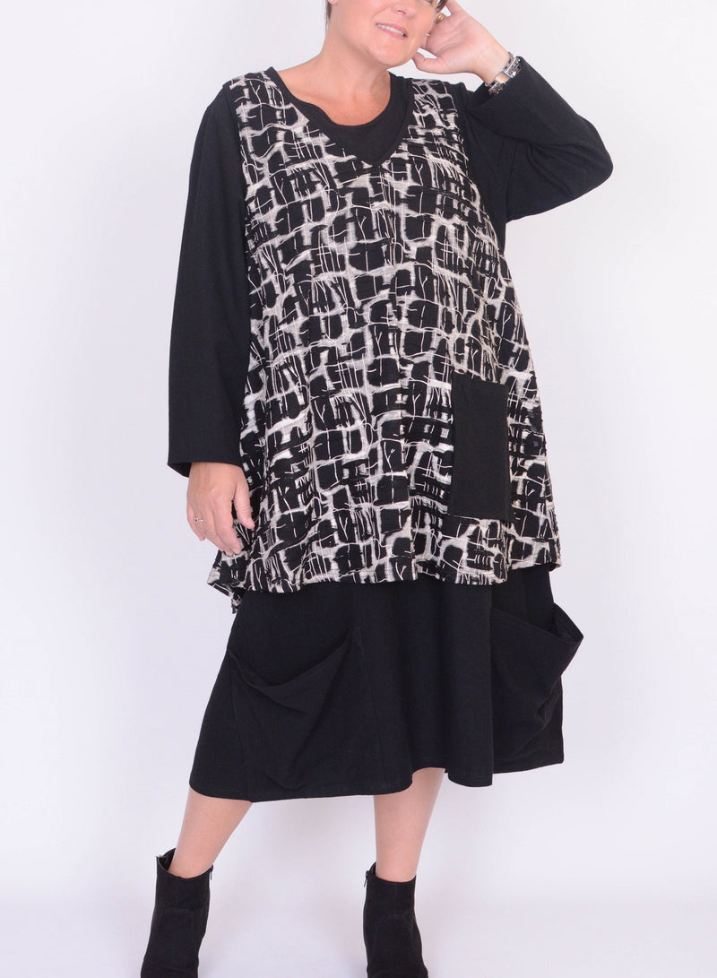 Lagenlook Dress with Over top - A830 - Pure Plus Clothing