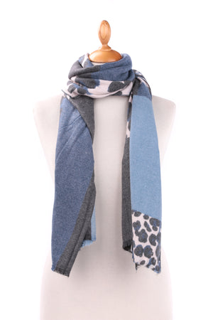 Scarf - Wool Blend - Animal Print 18068 - Pure Plus Clothing