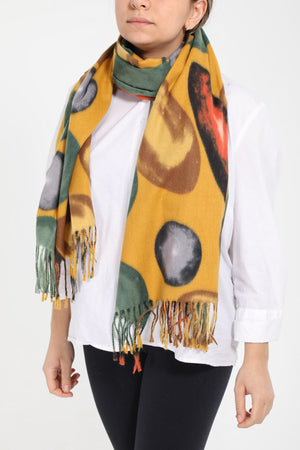 Quirky Spot Scarf - Wool Blend - 19058 - Pure Plus Clothing