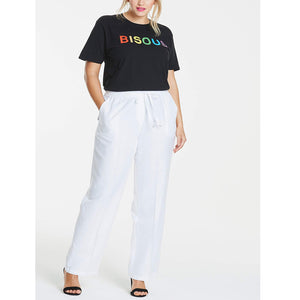 Linen Blend Trousers with Pockets - JX - Pure Plus Clothing