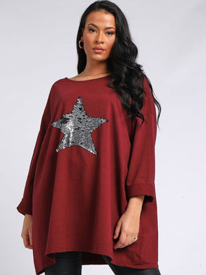 Sequin Star Top - 2082 - Pure Plus Clothing