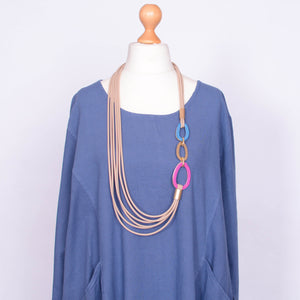 Necklace  - Model 16 Beige - Pure Plus Clothing
