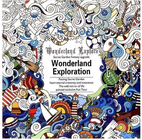 Coloring Book 'Wonderland Exploration' - QuantumBitz
