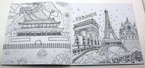 Image of Coloring Book 'Around the World' - QuantumBitz