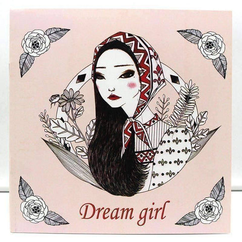 Coloring Book 'Dream Girl' - QuantumBitz 1 PCS New 24 Pages 25*25cm Coloring Books For Kids And Adults Painting Book Dream Girl Coloring Books For Adults