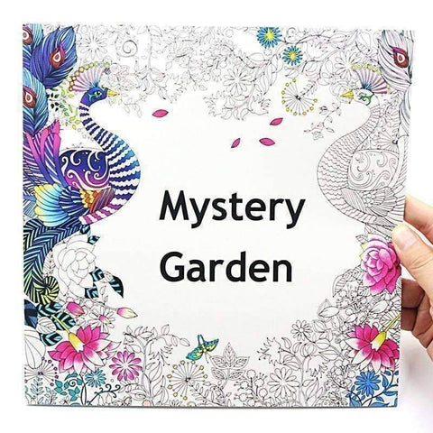 Image of Coloring Book 'Mystery Garden' - QuantumBitz 1 PCS New 24 Pages 25*25cm Coloring Books For Kids And Adults Painting Book Mystery Garden Secret Garden Coloring Book