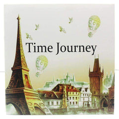 Coloring Book 'Time Journey' - QuantumBitz 1 PCS New 24 Pages 25*25cm Coloring Books For Kids And Adults Painting Book Time Journey Coloring Book