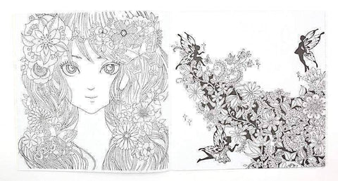 Image of Coloring Book 'Fairy Tales & Magical Dreams' - QuantumBitz
