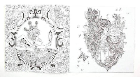 Coloring Book 'Fairy Tales & Magical Dreams' - QuantumBitz