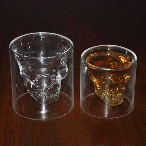 Image of Skull Head Shot Glass - QuantumBitz