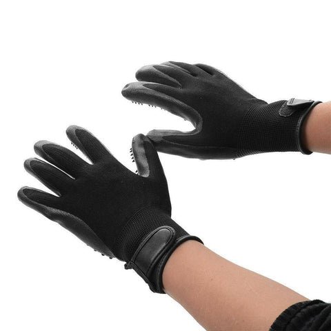 Pet Shedding Grooming Gloves - QuantumBitz