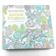 Coloring Book 'Animal Kingdom' - QuantumBitz 24 Pages English Edition Animal Kingdom Coloring Book For Children Adults Relieve Stress Drawing Secret Garden Colouring Book