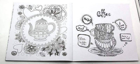 Coloring Book 'Cafe' - QuantumBitz