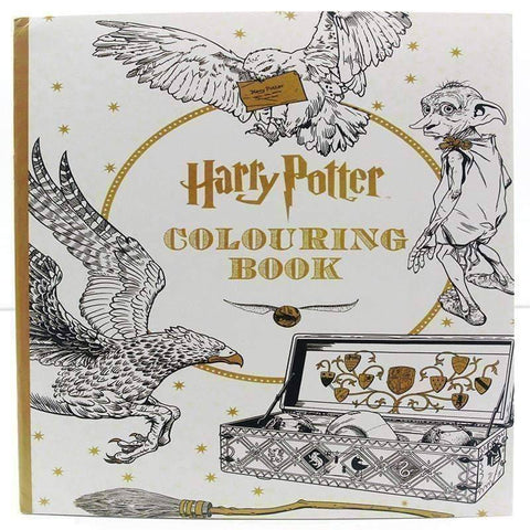 Image of Coloring Book 'Harry Potter' - QuantumBitz 24 Pages English Edition Harry Potter Coloring Book For Adult Relieve Stress Kill Time Graffiti Painting Drawing Book