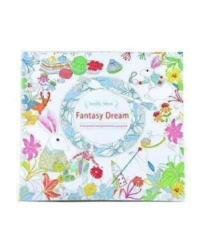 Coloring Book 'Fantasy Dreams' - QuantumBitz 24 Pages Fantasy dream Secret Garden Series Antistress Coloring Book For Children Adults Graffiti Painting Drawing Art Book