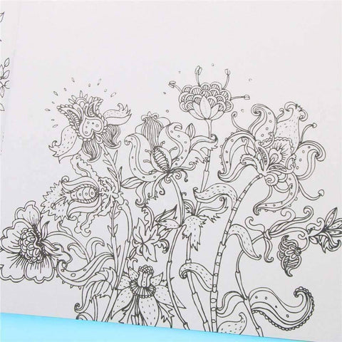 Coloring Book 'Secret Garden' - QuantumBitz