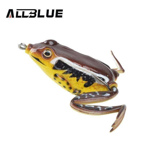 3D Frog Lure - QuantumBitz Allblue High Quality Kopper Live Target Frog Lure 58mm/16g Snakehead Lure Topwater Simulation Frog Fishing Lure Soft Bass Bait