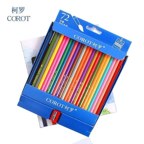 72 Watercolor Pencil Starter Kit - QuantumBitz Bianyo Colors Safe Non-toxic Indonesia Lead Water Soluble Colored Pencil Watercolor Pencil Set For Write Drawing Art Supplies