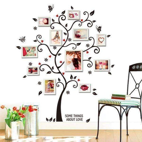 Chic Family Tree Wall Vinyl Sticker - QuantumBitz