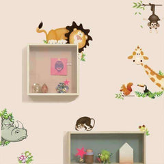 Cute Animal and Dinosaur Wall Vinyl Sticker
